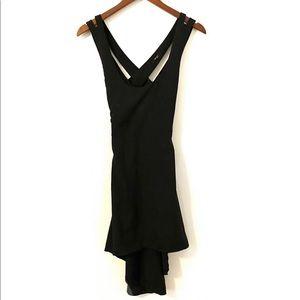 Black Strappy HiLo criss cross back dress small